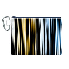 Digitally Created Striped Abstract Background Texture Canvas Cosmetic Bag (L)