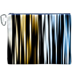 Digitally Created Striped Abstract Background Texture Canvas Cosmetic Bag (XXXL)