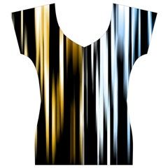 Digitally Created Striped Abstract Background Texture Women s V-Neck Cap Sleeve Top