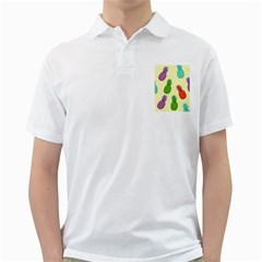 Colorful Pineapples Wallpaper Background Golf Shirts