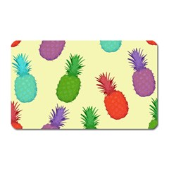 Colorful Pineapples Wallpaper Background Magnet (Rectangular)