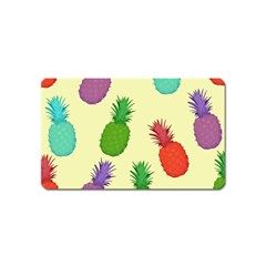Colorful Pineapples Wallpaper Background Magnet (name Card)