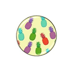 Colorful Pineapples Wallpaper Background Hat Clip Ball Marker