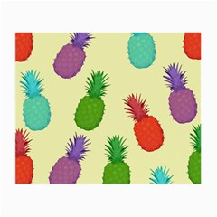 Colorful Pineapples Wallpaper Background Small Glasses Cloth