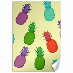 Colorful Pineapples Wallpaper Background Canvas 12  X 18