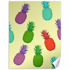 Colorful Pineapples Wallpaper Background Canvas 18  X 24