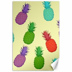 Colorful Pineapples Wallpaper Background Canvas 24  x 36