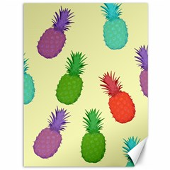 Colorful Pineapples Wallpaper Background Canvas 36  X 48