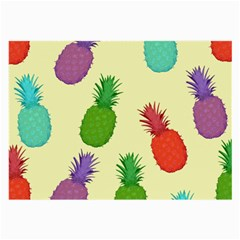 Colorful Pineapples Wallpaper Background Large Glasses Cloth
