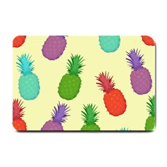 Colorful Pineapples Wallpaper Background Small Doormat