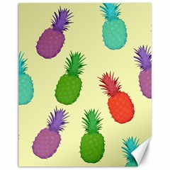 Colorful Pineapples Wallpaper Background Canvas 11  X 14