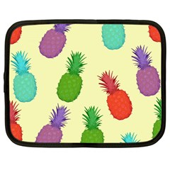 Colorful Pineapples Wallpaper Background Netbook Case (large)