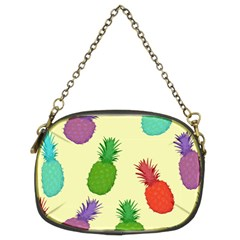 Colorful Pineapples Wallpaper Background Chain Purses (two Sides)