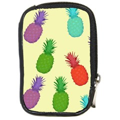 Colorful Pineapples Wallpaper Background Compact Camera Cases