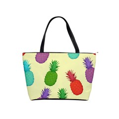 Colorful Pineapples Wallpaper Background Shoulder Handbags