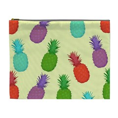 Colorful Pineapples Wallpaper Background Cosmetic Bag (xl)