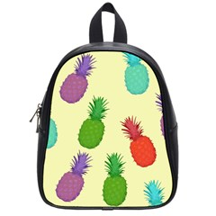 Colorful Pineapples Wallpaper Background School Bags (small)