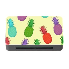 Colorful Pineapples Wallpaper Background Memory Card Reader With Cf