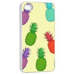 Colorful Pineapples Wallpaper Background Apple Iphone 4/4s Seamless Case (white)