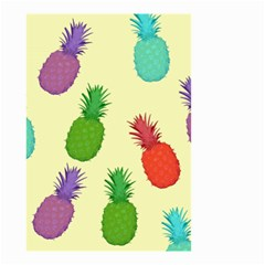 Colorful Pineapples Wallpaper Background Small Garden Flag (Two Sides)