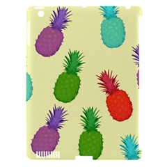 Colorful Pineapples Wallpaper Background Apple iPad 3/4 Hardshell Case (Compatible with Smart Cover)