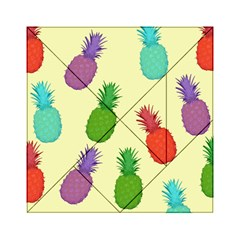 Colorful Pineapples Wallpaper Background Acrylic Tangram Puzzle (6  x 6 )