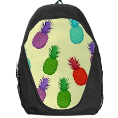 Colorful Pineapples Wallpaper Background Backpack Bag