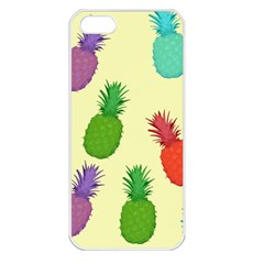 Colorful Pineapples Wallpaper Background Apple iPhone 5 Seamless Case (White)