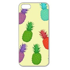 Colorful Pineapples Wallpaper Background Apple Seamless iPhone 5 Case (Clear)