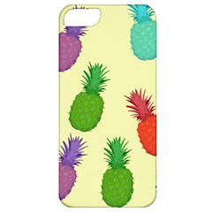 Colorful Pineapples Wallpaper Background Apple iPhone 5 Classic Hardshell Case