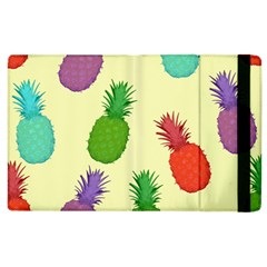 Colorful Pineapples Wallpaper Background Apple iPad 3/4 Flip Case