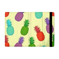 Colorful Pineapples Wallpaper Background Apple iPad Mini Flip Case
