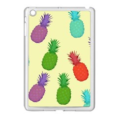 Colorful Pineapples Wallpaper Background Apple iPad Mini Case (White)