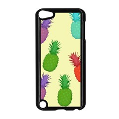 Colorful Pineapples Wallpaper Background Apple iPod Touch 5 Case (Black)