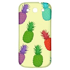 Colorful Pineapples Wallpaper Background Samsung Galaxy S3 S III Classic Hardshell Back Case