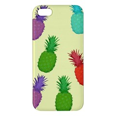 Colorful Pineapples Wallpaper Background Apple iPhone 5 Premium Hardshell Case