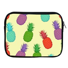 Colorful Pineapples Wallpaper Background Apple iPad 2/3/4 Zipper Cases