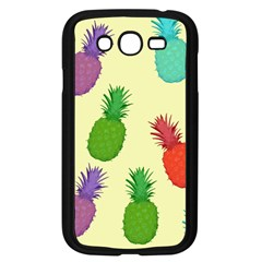 Colorful Pineapples Wallpaper Background Samsung Galaxy Grand DUOS I9082 Case (Black)