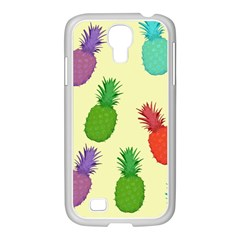 Colorful Pineapples Wallpaper Background Samsung GALAXY S4 I9500/ I9505 Case (White)
