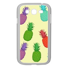 Colorful Pineapples Wallpaper Background Samsung Galaxy Grand DUOS I9082 Case (White)