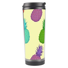 Colorful Pineapples Wallpaper Background Travel Tumbler