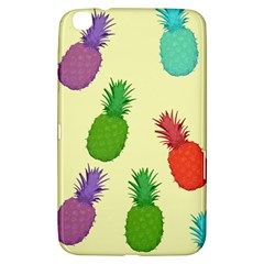 Colorful Pineapples Wallpaper Background Samsung Galaxy Tab 3 (8 ) T3100 Hardshell Case
