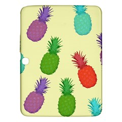 Colorful Pineapples Wallpaper Background Samsung Galaxy Tab 3 (10.1 ) P5200 Hardshell Case