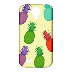 Colorful Pineapples Wallpaper Background Samsung Galaxy S4 Classic Hardshell Case (PC+Silicone)