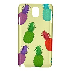 Colorful Pineapples Wallpaper Background Samsung Galaxy Note 3 N9005 Hardshell Case
