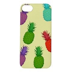 Colorful Pineapples Wallpaper Background Apple iPhone 5S/ SE Hardshell Case