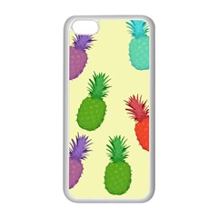Colorful Pineapples Wallpaper Background Apple Iphone 5c Seamless Case (white)