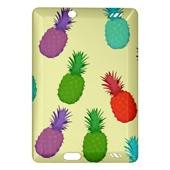 Colorful Pineapples Wallpaper Background Amazon Kindle Fire HD (2013) Hardshell Case