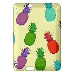 Colorful Pineapples Wallpaper Background Kindle Fire Hdx Hardshell Case