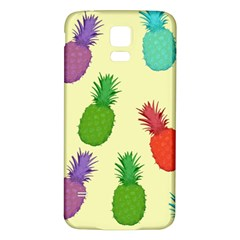 Colorful Pineapples Wallpaper Background Samsung Galaxy S5 Back Case (White)